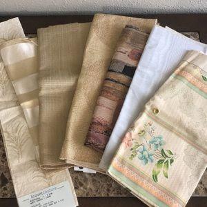 Lot of 7 Pcs Designer Fabric Samples Neutrals